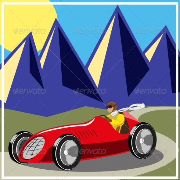 GraphicRiver Old Fast Race Car 7523248