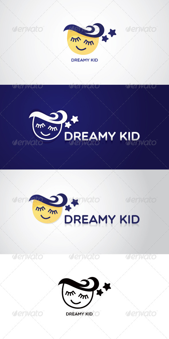 GraphicRiver Dreamy Kid Stock Logo Template 7523275