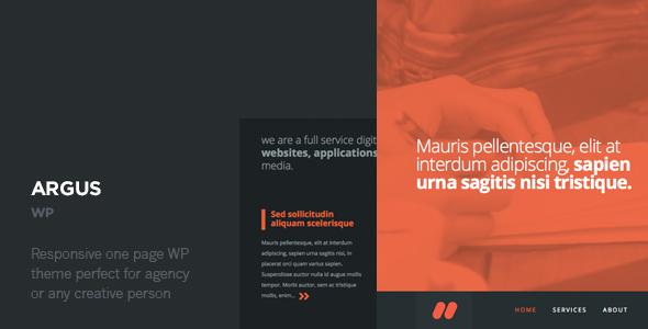 Argus - One Page Responsive Wordpress Theme