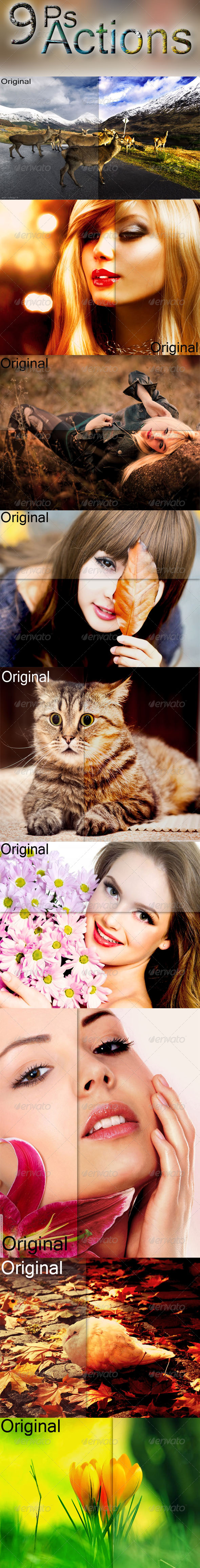 GraphicRiver 9 Ps Actions 7523280