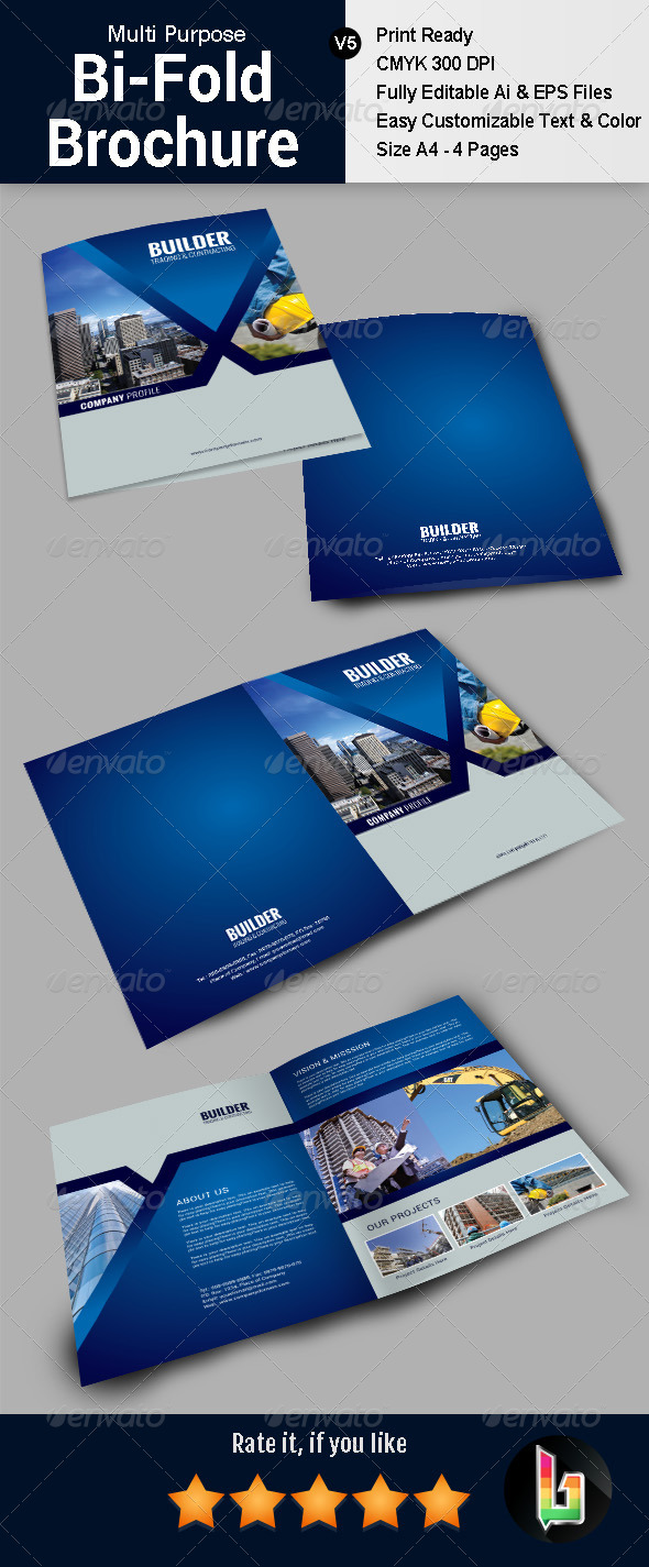 GraphicRiver Multi Purpose Bifold Brochure V5 7523468