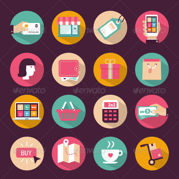 GraphicRiver Shopping Icons 7523865
