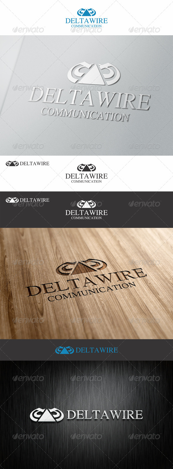 GraphicRiver Delta Wire Communication Logo 7524021