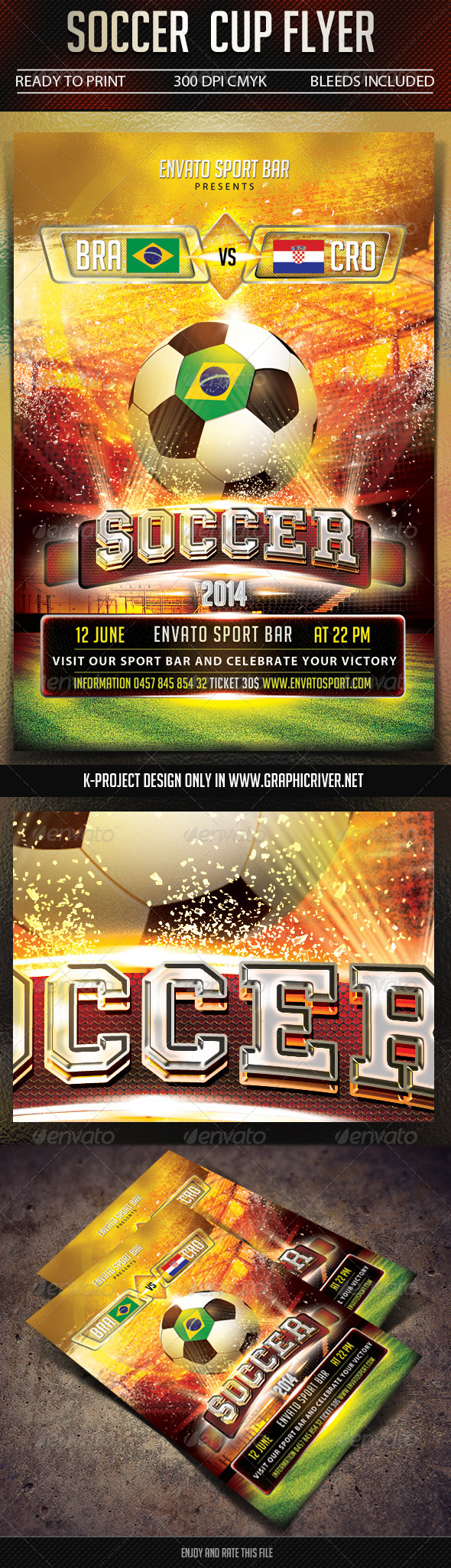 GraphicRiver Soccer Cup Flyer 7524359