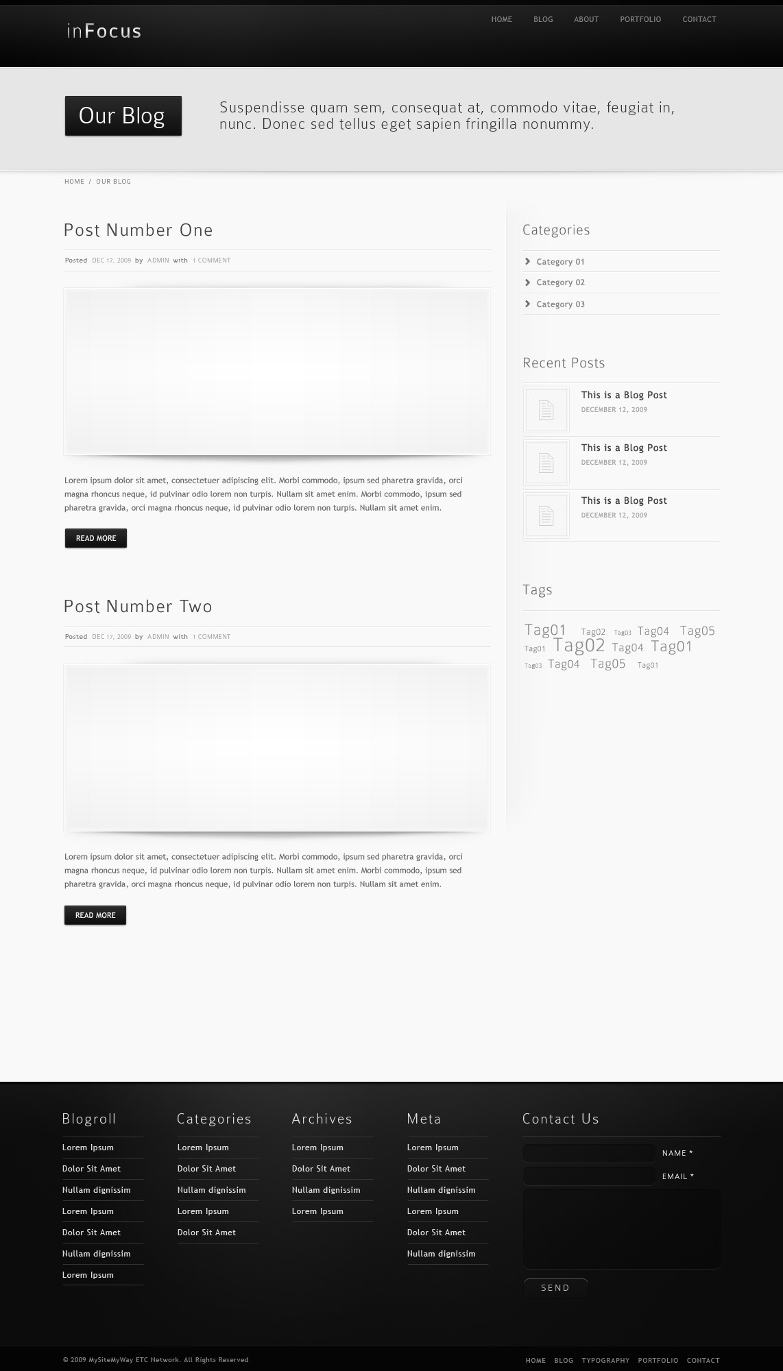 inFocus - Powerful Professional WordPress Theme