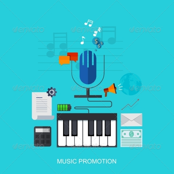GraphicRiver Music Background 7524627