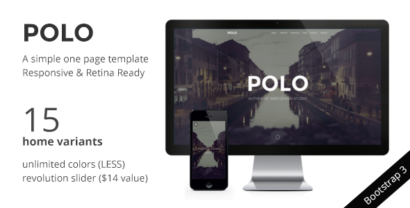 POLO - Simple & Elegant Responsive One Page HTML5