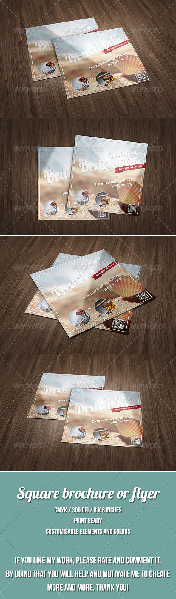 GraphicRiver Summer Style Square Brochure 7524893