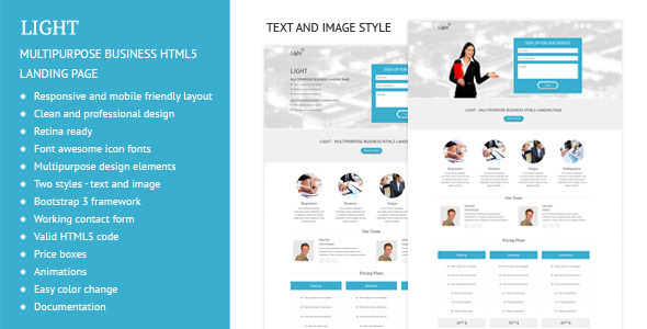 Light - Multipurpose Business Landing Page