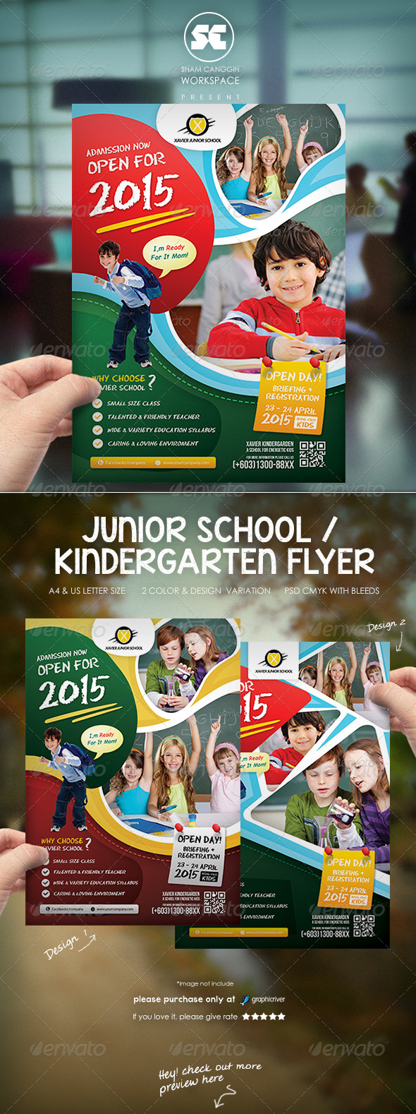 GraphicRiver Kindergarten Junior School Flyer 7524968