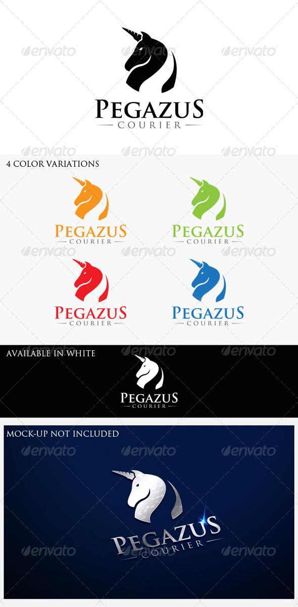 GraphicRiver Pegazus Courier Logo Template 7524975