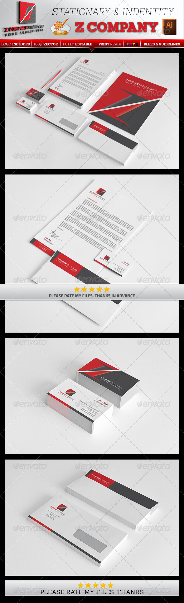 GraphicRiver Z Company Stationary 7524997