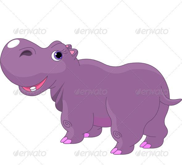 GraphicRiver Cartoon Hippo 7525217