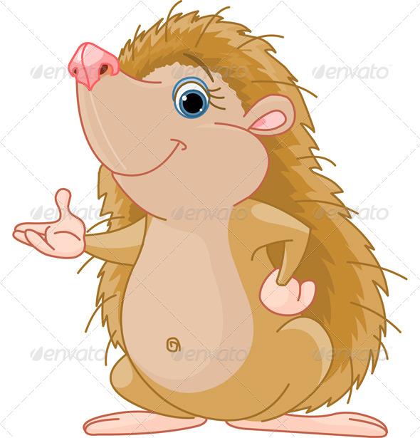 GraphicRiver Hedgehog Presenting 7525222