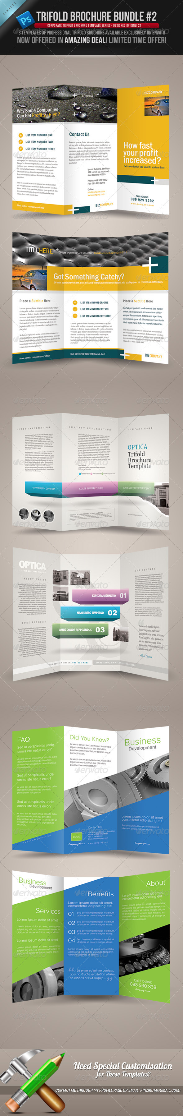 Trifold Brochure Bundle 02 - Corporate Brochures