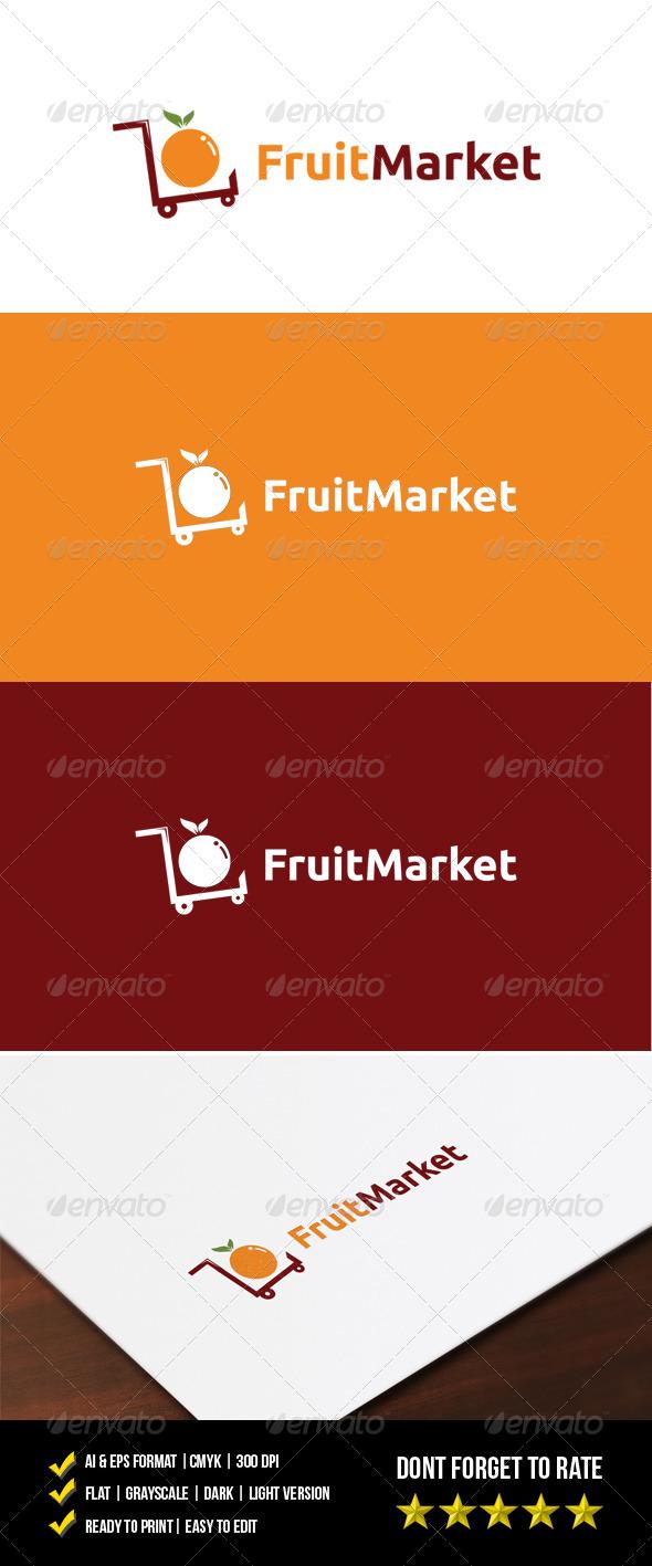 GraphicRiver Fruit Market Logo 7525394
