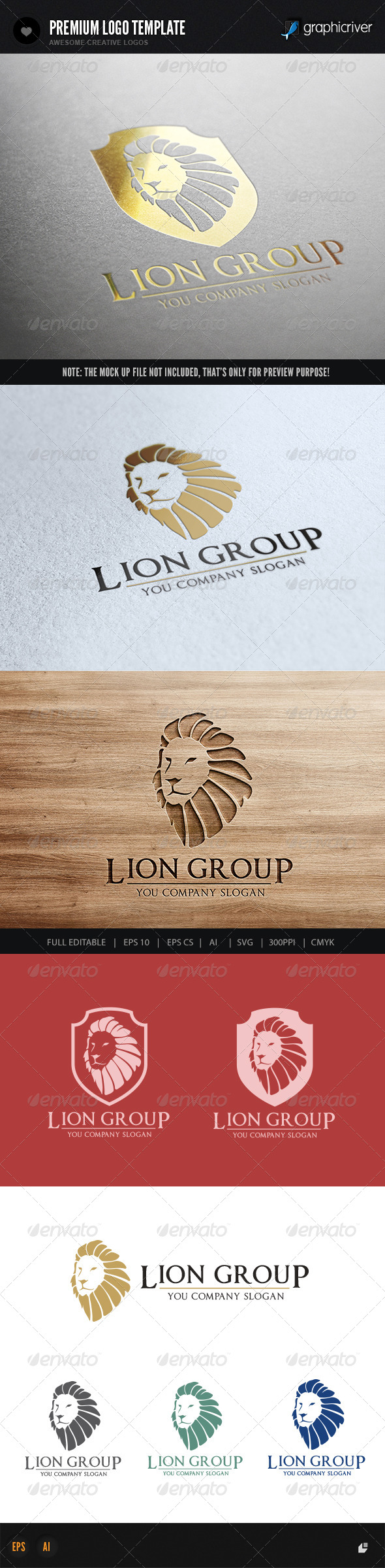 GraphicRiver Lion Group 7526055