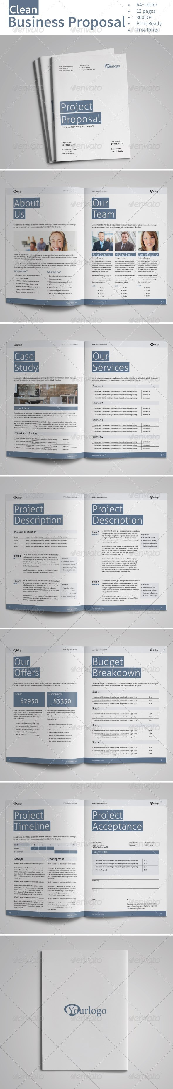 GraphicRiver Clean Business Proposal Vol.3 7526056