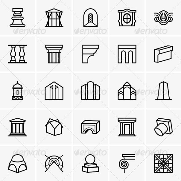 GraphicRiver Architecture Icons 7526844