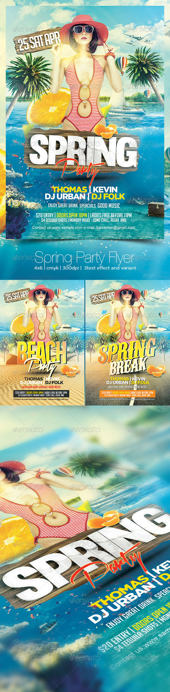 GraphicRiver Spring Party Flyer 7526851