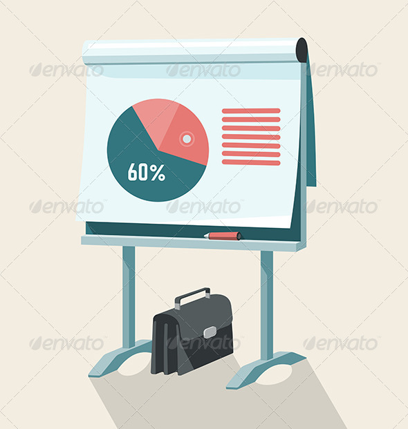 GraphicRiver Flip Chart With Pie Graph 7526885