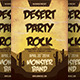 Desert Party Rock Flyer Template - GraphicRiver Item for Sale