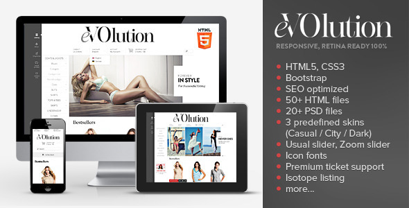 eVOlution - Premium Responsive HTML Theme - Fashion Retail