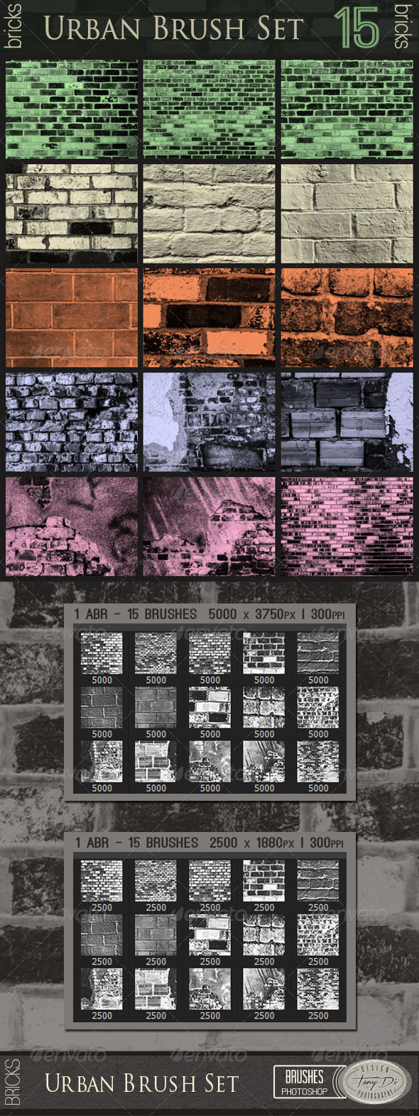 GraphicRiver Urban Brush Set Bricks 7527634