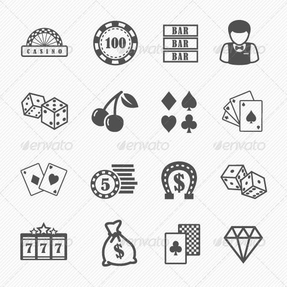 Casino and Gambling Vector Icons