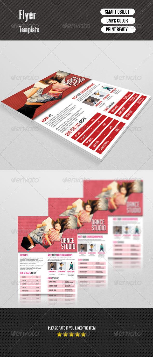 GraphicRiver Dance Studio Flyer 7528565