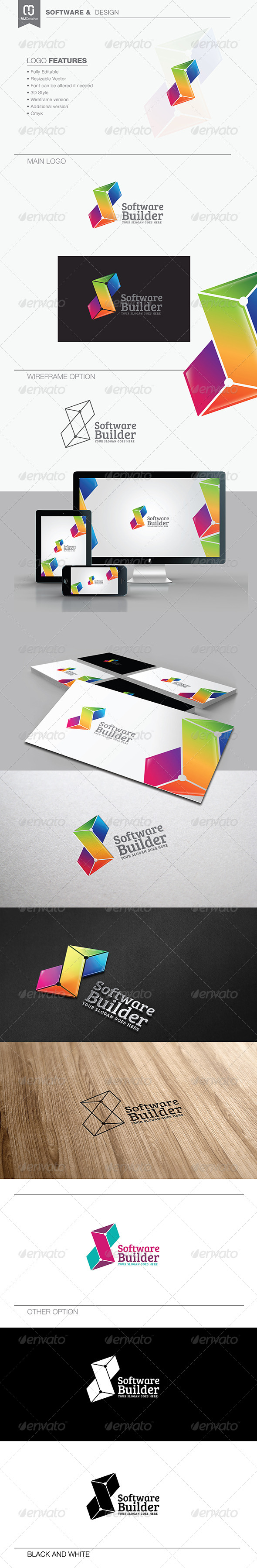 GraphicRiver Letter S Software & Technology Logo 7528800
