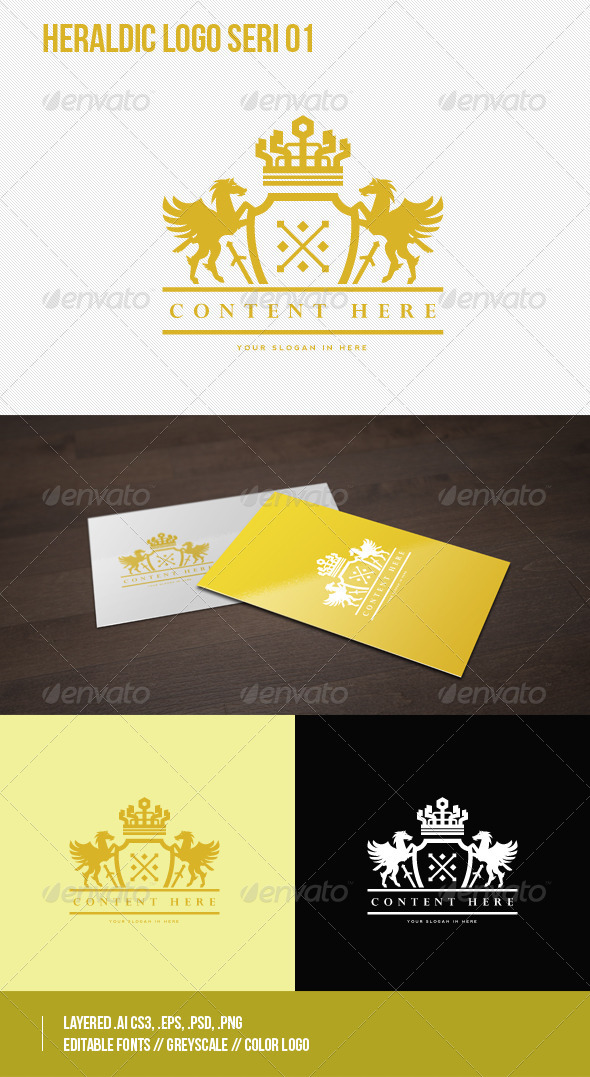 GraphicRiver Heraldic Logo Seri 01 7522948