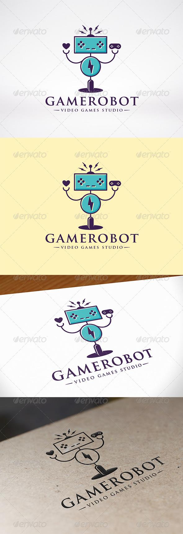 Robot Game Logo Template