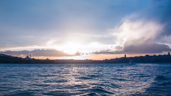 Istanbul Bosphorus Sunset View