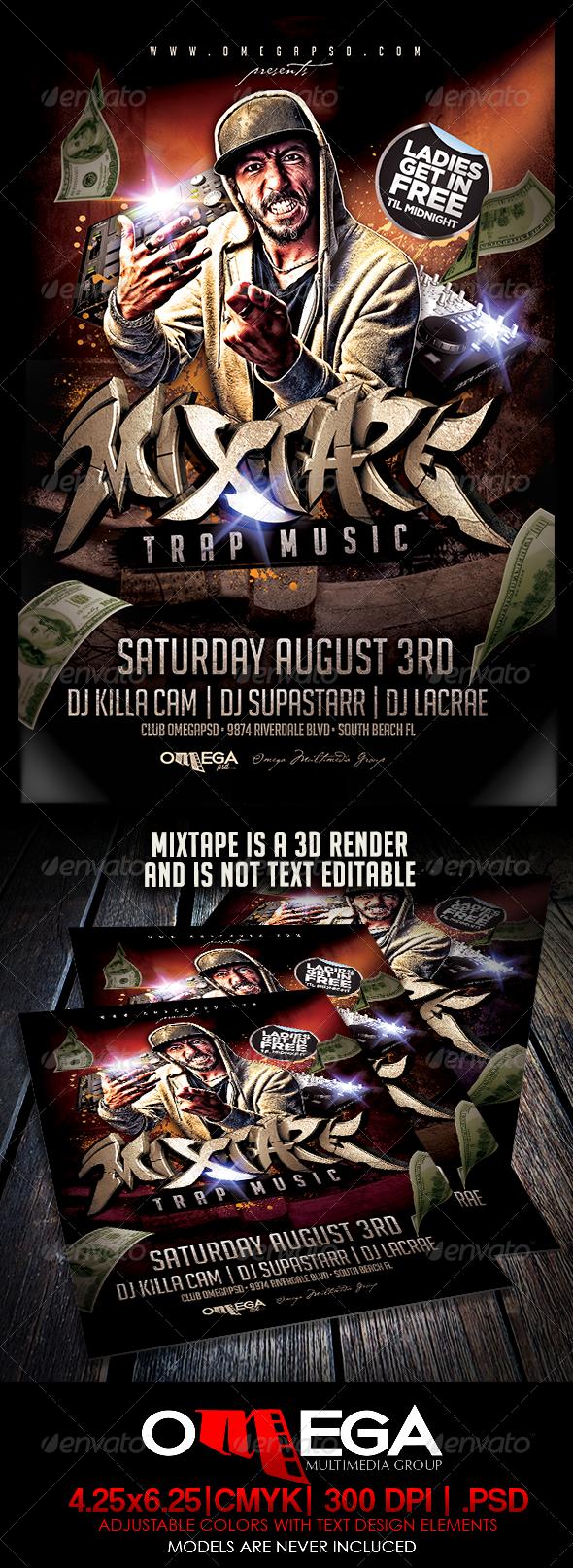 GraphicRiver Mixtape Trap Music 7529981