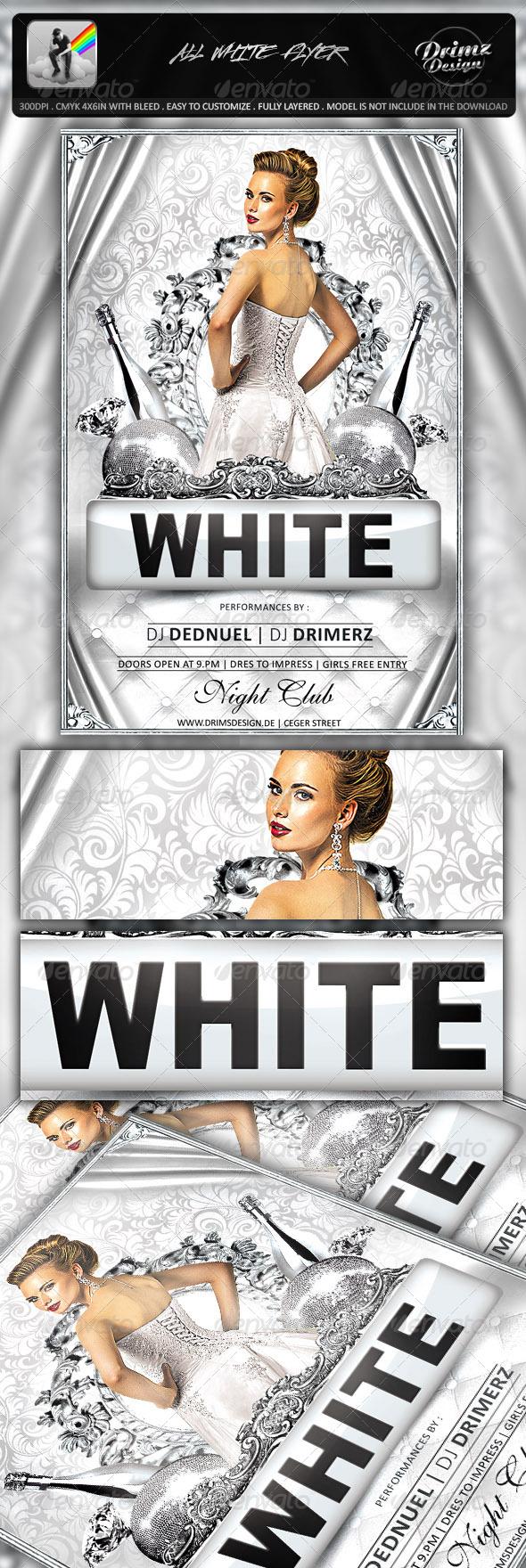 GraphicRiver All White Flyer 7530187