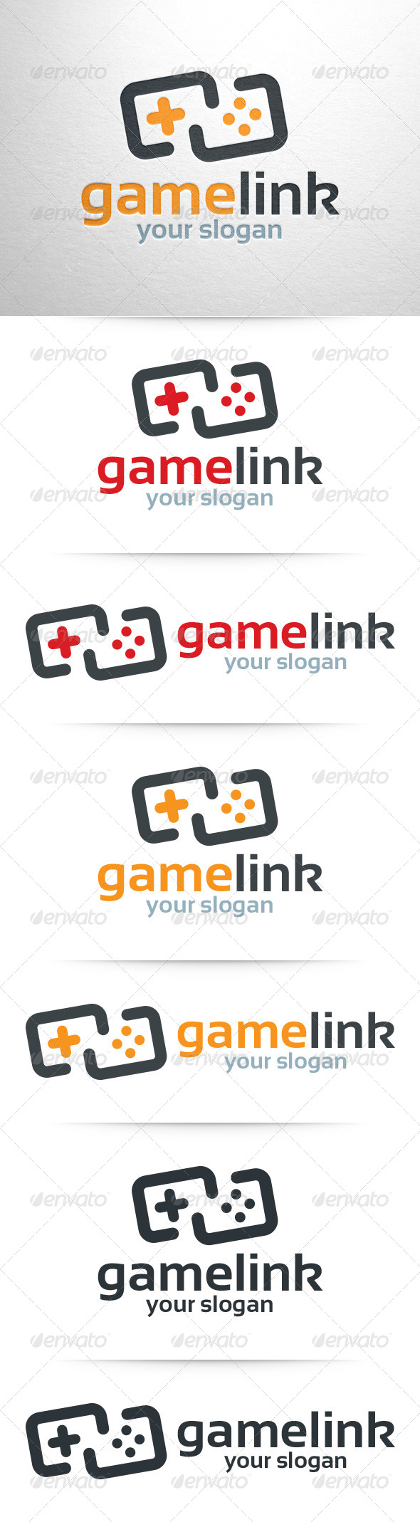 Game Link Logo Template