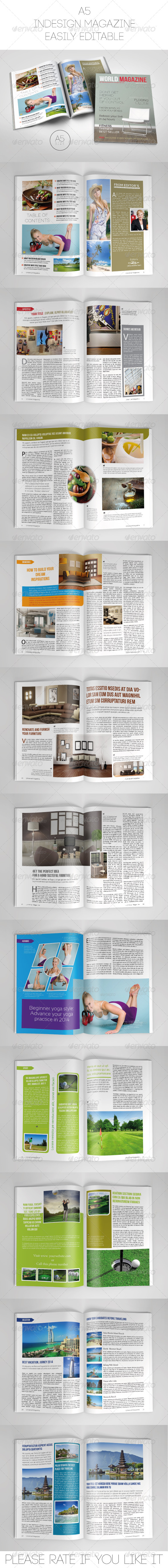 GraphicRiver A5 Magazine Template 7530261