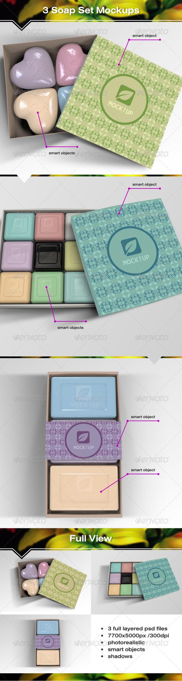 GraphicRiver 3 Soap Set Mockups 7530277