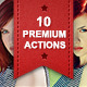 10 Premium Actions Set  - GraphicRiver Item for Sale