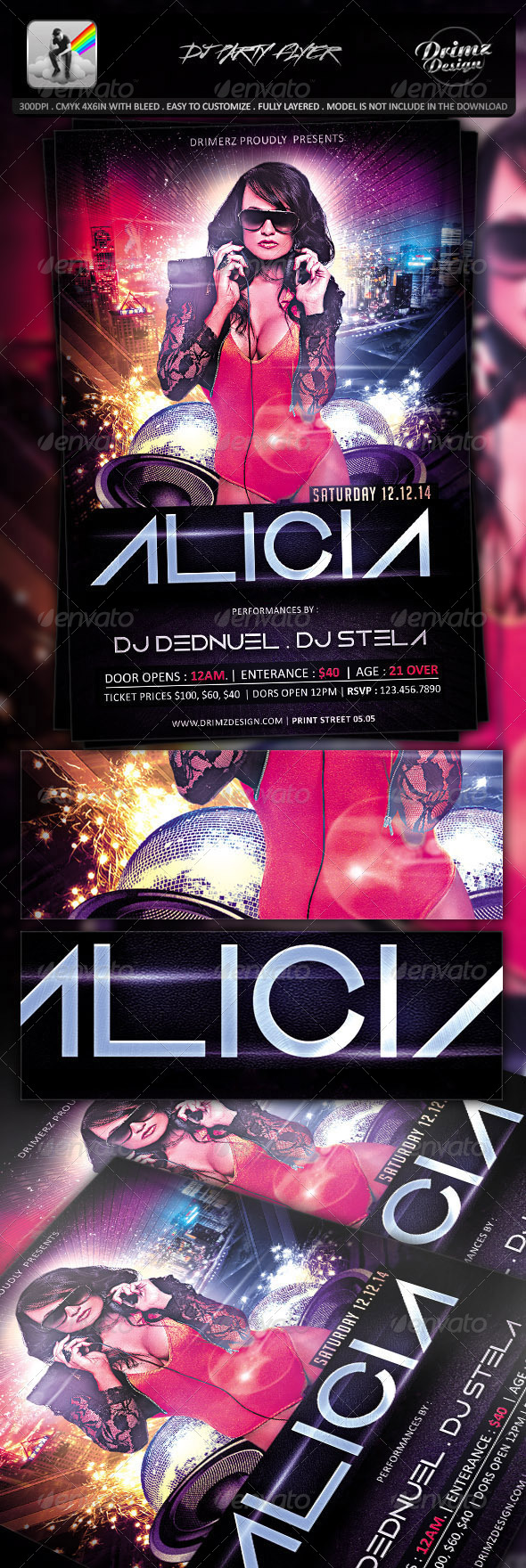 GraphicRiver DJ Party Flyer 7530742