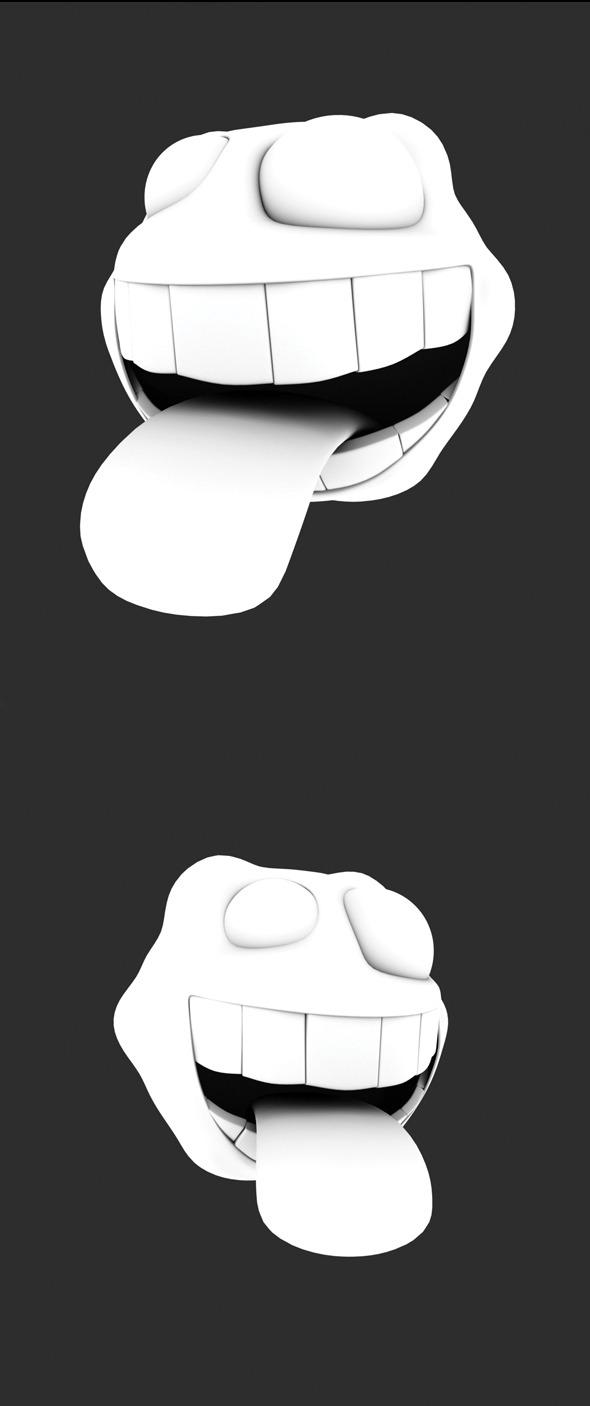 Funny Cartoon Head - 3DOcean Item for Sale