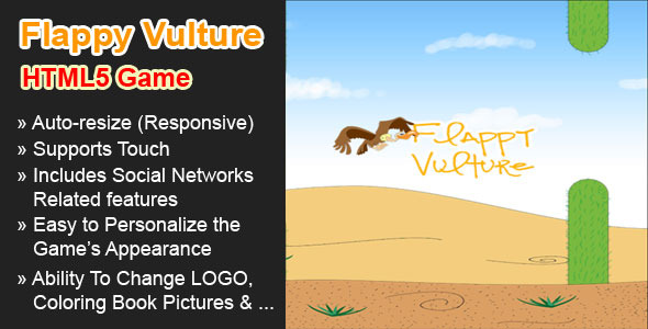 CodeCanyon Flappy Vulture HTML5 Game 7531099