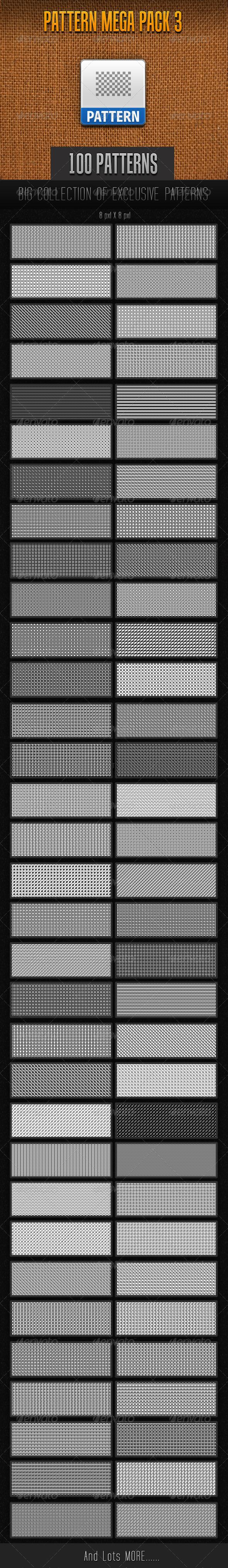 GraphicRiver 100 Mini Pattern Collection 3 7531157