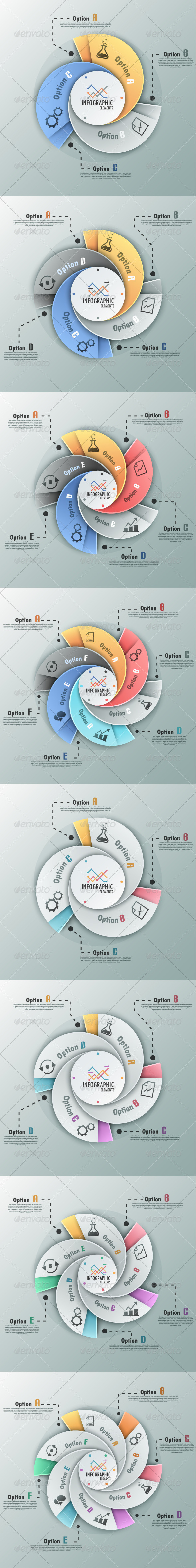 GraphicRiver Modern Infographic Options Banner 8 Versions 7531239