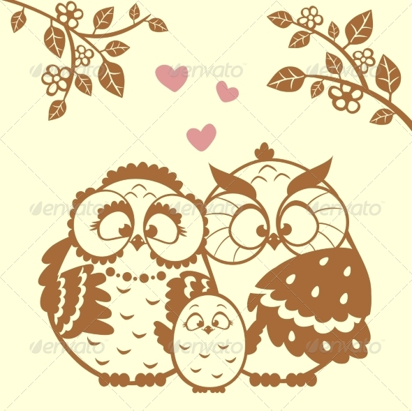 GraphicRiver Owl Family 7531310