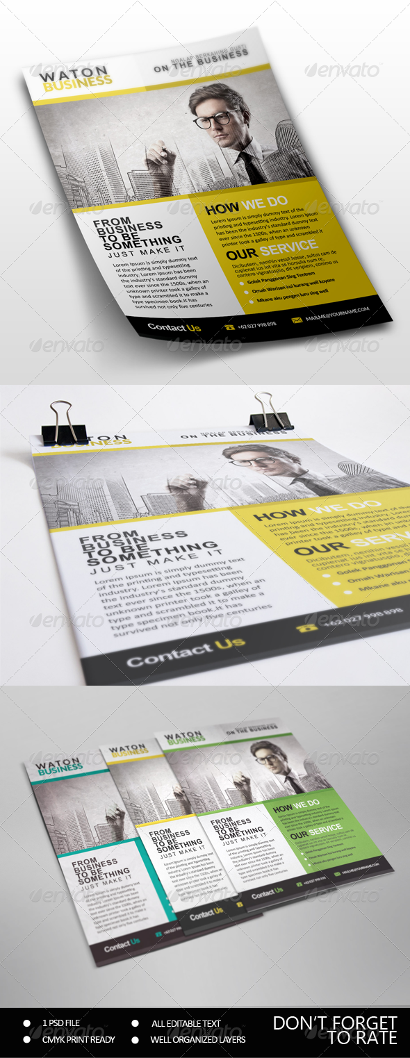 GraphicRiver Business Flyer 7531726