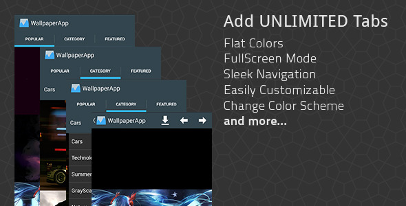 CodeCanyon Flat Android Wallpaper App Maker 7532037