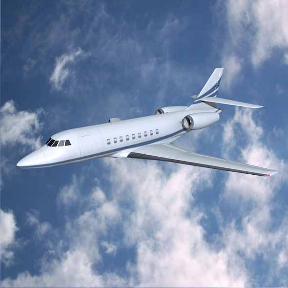 3DOcean Dassault Falcon 2000dx business jet 7532747