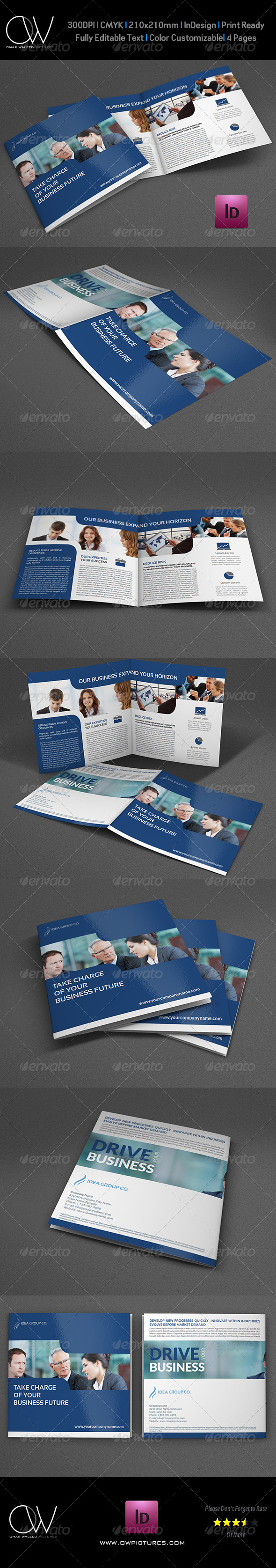 GraphicRiver Company Brochure Bi-Fold Square Template Vol.24 7532937